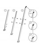Alu-SimplE Pole For Sail Shades Variable Height Aluminium
