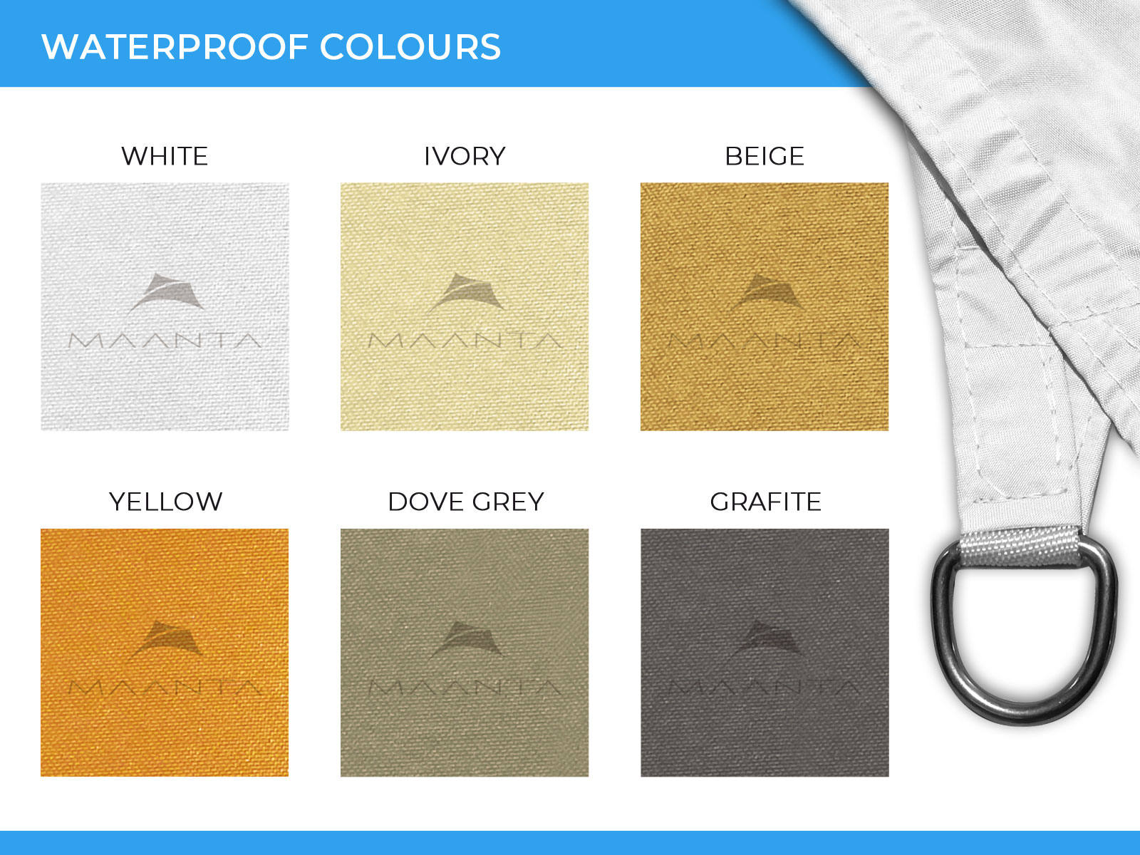shade sail waterproof colours