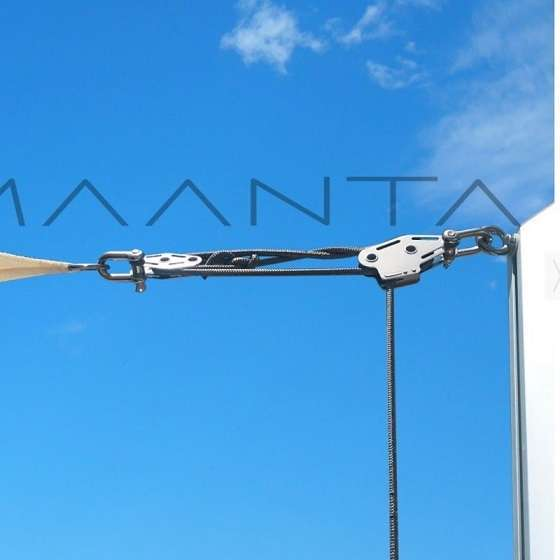 Eyebolt and Muscle x3 maanta pole for shade sails